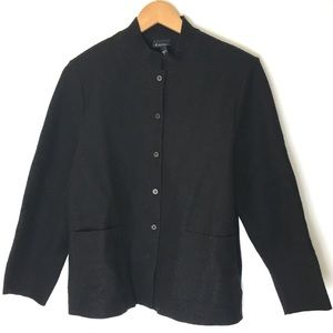 Eileen Fisher Wool Classic Button Up Jacket